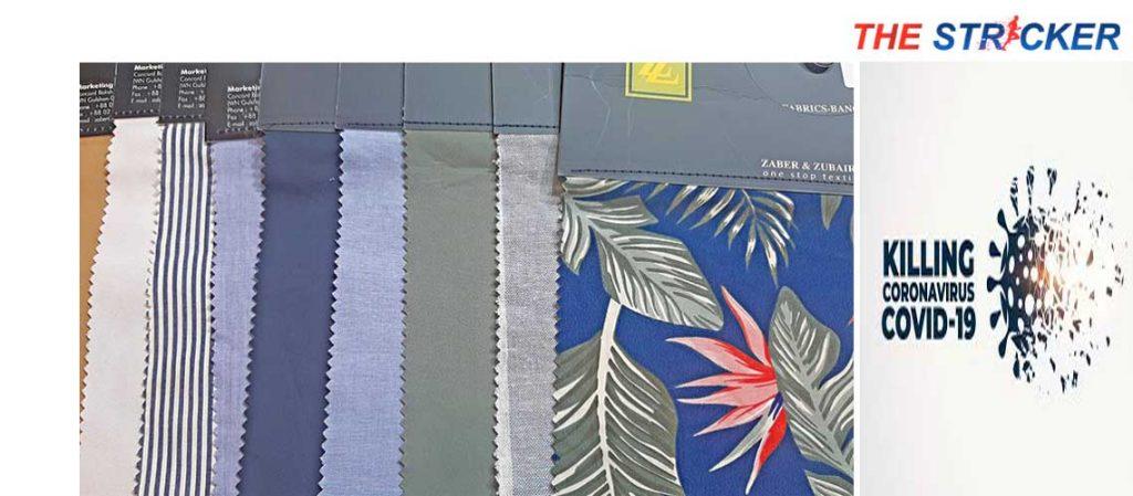 corona virus killing fabric
